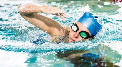 A swimmer in the Total Fitness Prenton swimming pool