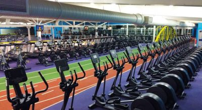 Total FItness cross-trainers and running track